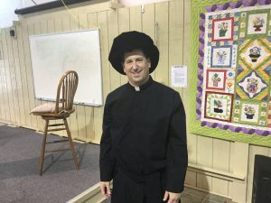 Pastor Andrew in his Martin Luther attire