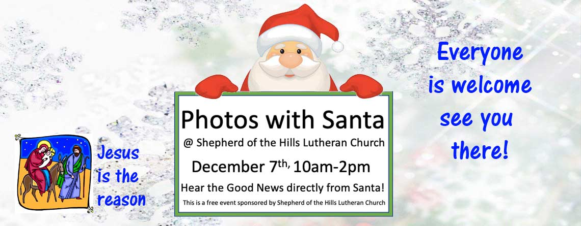 "Santa ""Christ""mas Photo Op"