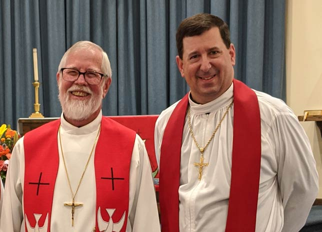 Pastor John and Pastor Andrew bringing the Lenten message during 2021
